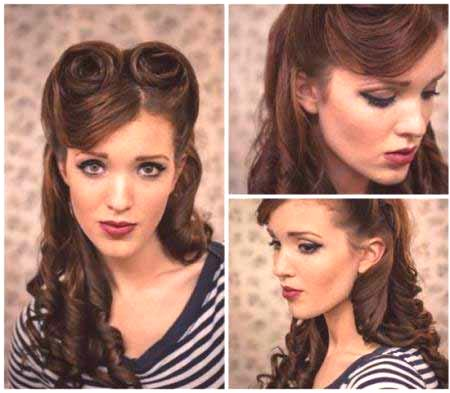 Retro Hairstyles Retro Fryzury Dla Długich I średnich